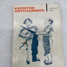 Livres d'occasion: ESCRITOS ANTITAURINOS. Lote 287402498