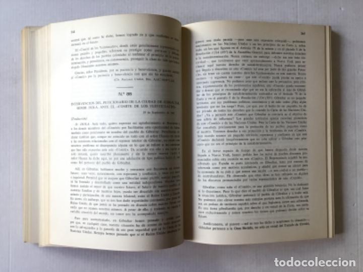 Libros de segunda mano: DOCUMENTOS SOBRE GIBRALTAR PRESENTADOS A LAS CORTES ESPAÑOLAS POR EL MINISTRO DE ASUNTOS EXTERIORES. - Foto 6 - 287420213