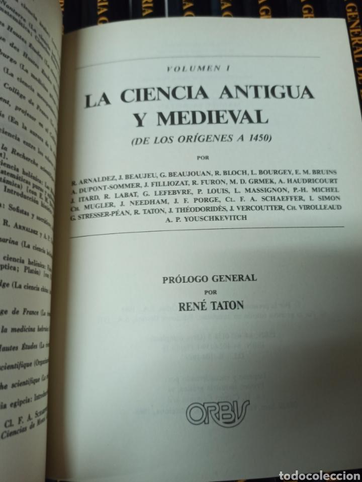 Libros de segunda mano: TATOM, René (director) HISTORIA GENERAL DE LAS CIENCIAS. 18 TOMOS (OBRA COMPLETA). - Foto 3 - 287538903