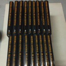 Libros de segunda mano: TATOM, RENÉ (DIRECTOR) HISTORIA GENERAL DE LAS CIENCIAS. 18 TOMOS (OBRA COMPLETA).. Lote 287538903
