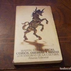Libri di seconda mano: VACAS, CERDOS, GUERRAS Y BRUJAS, LOS ENIGMAS DE LA CULTURA. MARVIN HARRIS. ALIANZA EDITORIAL, DEFECT. Lote 287686578