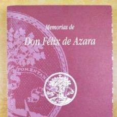 Libros de segunda mano: MEMORIAS DE DON FÉLIX DE AZARA / EDICIÓN FACSÍMIL / 1996. Lote 287688113