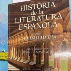 Libros de segunda mano: CANAVAGGIO, JEAN. - HISTORIA DE LA LITERATURA ESPAÑOLA. TOMO I: LA EDAD MEDIA.. Lote 287759133