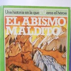Libros de segunda mano: EL ABISMO MALDITO. LOBO SOLITARIO 4 LIBRO JUEGO.. Lote 287857253