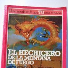 Libros de segunda mano: EL HECHICERO DE LA MONTAÑA DE FUEGO. LUCHA FICCIÓN 1 LIBRO JUEGO.. Lote 287882963