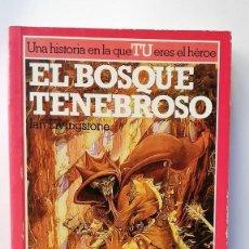 Libros de segunda mano: EL BOSQUE TENEBROSO. LUCHA FICCIÓN 3 LIBRO JUEGO.. Lote 287883268