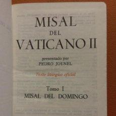 Libros de segunda mano: MISAL DEL VATICANO II. TOMO I. MISAL DEL DOMINGO. PEDRO JOUNEL. EDICIONES MENSAJERO. Lote 287890533