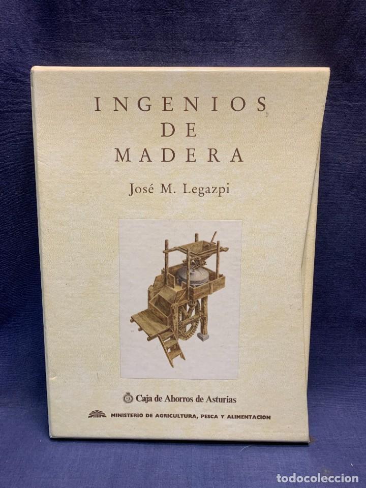 LIBRO INGENIOS DE MADERA JOSE M. LEGAZPI 1991 34X25X4CMS (Libros de Segunda Mano - Ciencias, Manuales y Oficios - Otros)