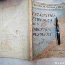 Libros de segunda mano: PERU 1959 PESCA - ESTADISTICA ECONOMICA DE LA INDUSTRIA PESQUERA - JAVIER IPARRAGUIRRE. + INFO. Lote 287953798