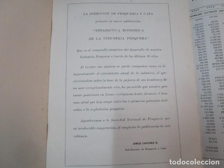Libros de segunda mano: PERU 1959 PESCA - ESTADISTICA ECONOMICA DE LA INDUSTRIA PESQUERA - JAVIER IPARRAGUIRRE. + INFO - Foto 2 - 287953798