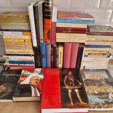 Libros de segunda mano: LOTAZO DE 62 OBRAS DE HISTORIA. VARIADOS. TODO EN BUEN ESTADO.. Lote 288149493