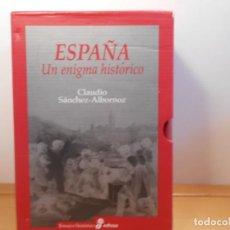 Libros de segunda mano: CLAUDIO SÁNCHEZ-ALBORNOZ , ESPAÑA (UN ENIGMA HISTÓRICO - EDHASA. Lote 288230163