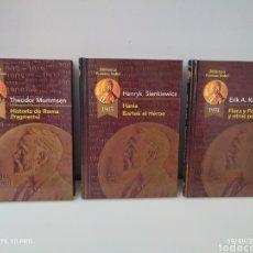 Libros de segunda mano: 3 LIBROS BIBLIOTECA PREMIOS NOBEL - EDICIONES RUEDA 2002. Lote 288388403