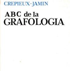 Libros de segunda mano: ABC DE LA GRAFOLOGÍA - CREPIEUX - JAMIN - COLECCIÓN CONVIVIUM - EDICIONES ARIEL 1967. Lote 288464578
