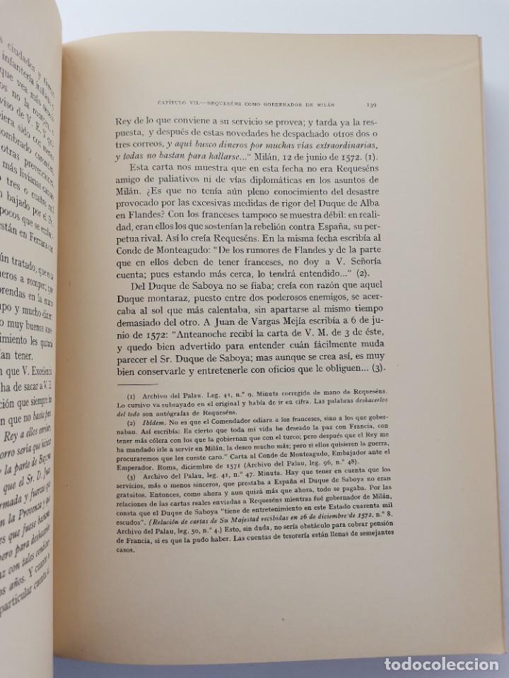 Libros de segunda mano: L-5713. EL COMENDADOR MAYOR DE CASTILLA DON LUIS DE REQUESENS. 1943. - Foto 7 - 288471898