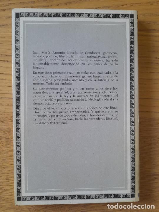 Libros de segunda mano: Bosquejo de un cuadro histórico de los progresos del espíritu humano Condorcet, J.A. Nicolas, - Foto 2 - 288489258
