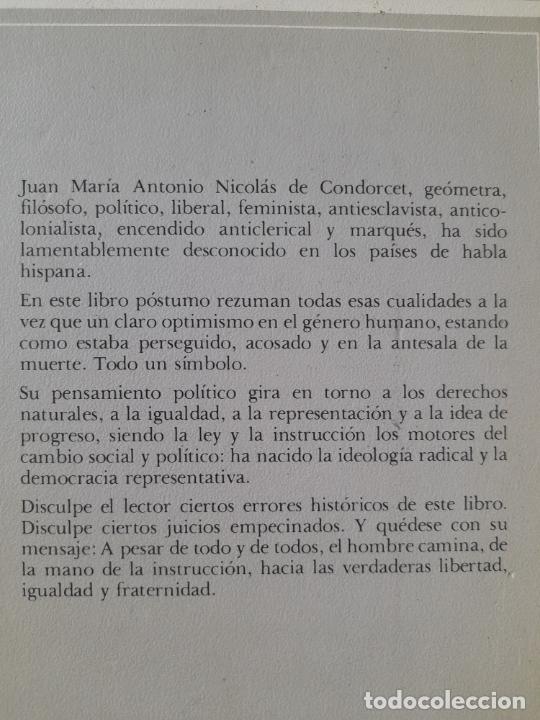 Libros de segunda mano: Bosquejo de un cuadro histórico de los progresos del espíritu humano Condorcet, J.A. Nicolas, - Foto 3 - 288489258