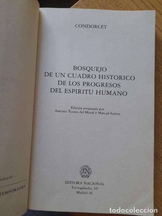 Libros de segunda mano: Bosquejo de un cuadro histórico de los progresos del espíritu humano Condorcet, J.A. Nicolas, - Foto 6 - 288489258