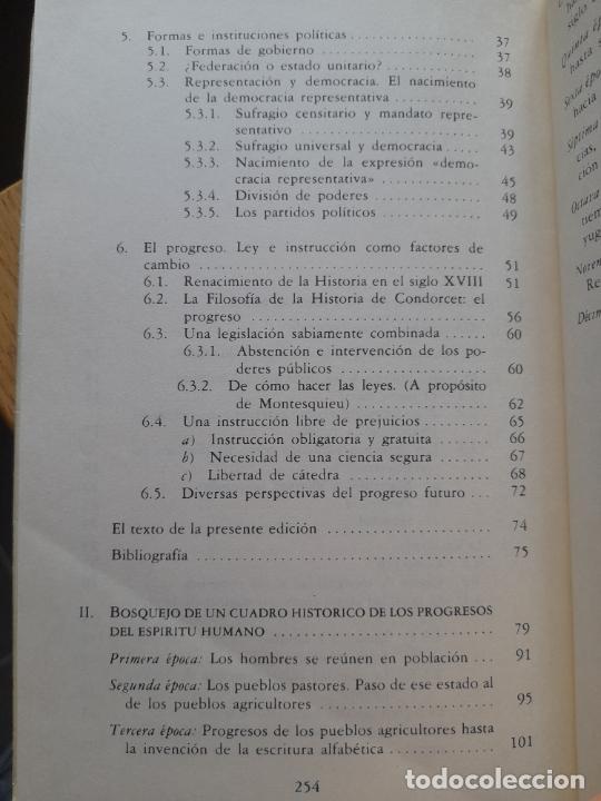 Libros de segunda mano: Bosquejo de un cuadro histórico de los progresos del espíritu humano Condorcet, J.A. Nicolas, - Foto 10 - 288489258