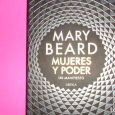 Livros em segunda mão: MUJERES Y PODER, UN MANIFIESTO, MARY BEARD, ED. CRÍTICA, TAPA DURA. Lote 288502778