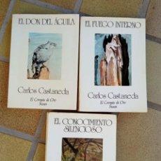 Libri di seconda mano: LOTE 3 LIBROS CARLOS CASTANEDA. Lote 288563663