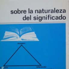 Libros de segunda mano: SOBRE LA NATURALEZA DEL SIGNIFICADO. N. E. CHRISTENSEN. Lote 288567043