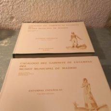 Libros de segunda mano: CATÁLOGO DEL GABINETE DE ESTAMPAS DEL MUSEO MUNICIPAL DE MADRID TOMO I Y II. Lote 288612098
