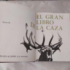 Libros de segunda mano: 46907 - EL LIBRO DE LA CAZA VOL. III - PLAZA & JANES S.A. EDITORES - AÑO 1975. Lote 288612738