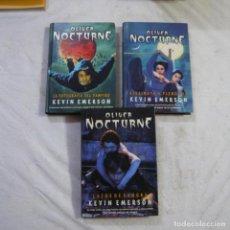Libros de segunda mano: OLIVER NOCTURNE 1, 2 Y 3 - KEVIN EMERSON - LA FACTORIA DE IDEAS. Lote 288677828