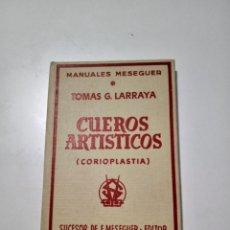 Libros de segunda mano: CUEROS ARTISTICOS .(CORIOPLASTIA). Lote 288714358