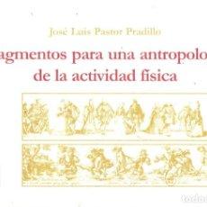 Libros de segunda mano: ANTROPOLOGÍA DEL DEPORTE - ANTROPOLOGÍA ACTIVIDAD FISICA - JOSE LUIS PASTOR - ED PAIDOTRIBO 2000. Lote 288948613