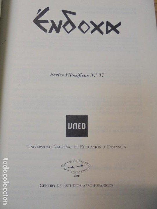 Libros de segunda mano: NUEVAS INVESTIGACIONES SOBRE Y DESDE GUINEA ECUATORIAL. ENDOXA SERIES FILOSOFICAS Nº 37. UNED - Foto 8 - 288987008
