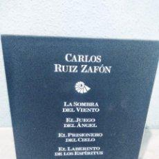 Libros de segunda mano: CARLOS RUIZ ZAFON LA CUATRILOGIA DEL CEMENTERIO DE LOS LIBROS NUEVA EN UN ESTUCHE DE CARTÓN. Lote 289008628