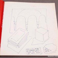 Libros de segunda mano: CARMEN CALVO - DIBUJO Y DEDICATORIA AUTÓGRAFA - 1990 - IVAM. Lote 289238398