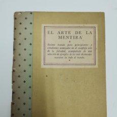 Libros de segunda mano: EL ARTE DE LA MENTIRA POR A.HITLER Y J.GOEBBELS.. Lote 289294008