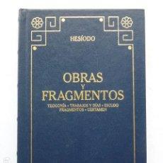 Libros de segunda mano: OBRAS Y FRAGMENTOS. HESÍODO. (ED. GREDOS).. Lote 289306433