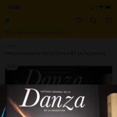 Libros de segunda mano: HISTORIA GENERAL DE LA DANZA EN LA ARGENTINA.. Lote 289361973