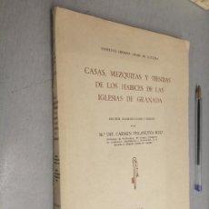 Libros de segunda mano: CASAS, MEZQUITAS Y TIENDAS DE LOS HABICES DE LAS IGLESIAS DE GRANADA / Mª CARMEN VILLANUEVA / MADRID. Lote 289485008