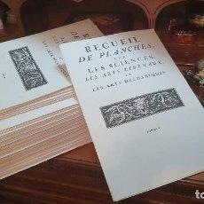 Libros de segunda mano: FASCÍMIL RECUEIL DE PLANCHES, SUR LES SCIENCES, LES ARTS LIBÉRAUX, ET LES ARTS MÉCHANIQUES COMPLETO. Lote 289519193