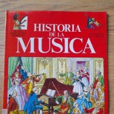 Libros de segunda mano: HISTORIA DE LA MUSICA, DE LOS INSTRUMENTOS PRIMITIVOS A LA MUSICA ELECTRONICA. ED. PLESA. 1982. Lote 289582583