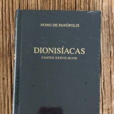 Libros de segunda mano: NONO DE PANÓPOLIS. DIONISIACAS, CANTOS XXXVII-XLVIII. BIBLIOTECA CLÁSICA GREDOS. Lote 289621618