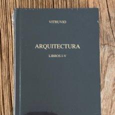 Libros de segunda mano: VITRUVIO. ARQUITECTURA. LIBROS I-V. BIBLIOTECA CLÁSICA GREDOS. Lote 289622073