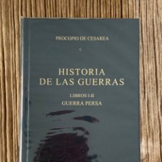 Libros de segunda mano: PROCOPIO DE CESAREA. HISTORIA DE LAS GUERRAS. LIBROS I-II. GUERRA PERSA. BIBLIOTECA CLÁSICA GREDOS.. Lote 289623733