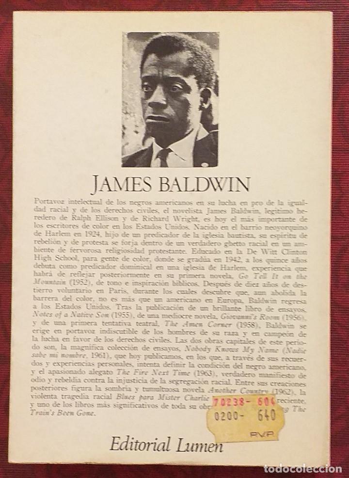 Libros de segunda mano: Nadie sabe mi nombre. James Baldwin. Lumen. Palabra en el tiempo 1970. 1ª edición! - Foto 2 - 289711338