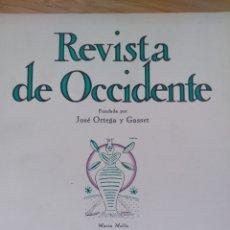 Libros de segunda mano: REVISTA OCCIDENTE Nº134(1974) BALLESTERYCARRILLO:UN EJEMPLO DE REPRESION EN LA ESPAÑA ABSOLUTISTA. Lote 289716013