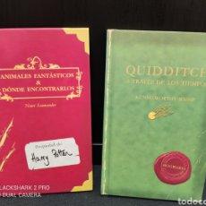 Libros de segunda mano: 2 LIBROS HARRY POTTER, ANIMALES FANTASTICOS + QUIDDITCH,. Lote 289758268