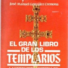 Libros de segunda mano: EL GRAN LIBRO DE LOS TEMPLARIOS - JOSE MANUEL GONZALEZ CREMONA - ED. MITRE 1985. Lote 289840588