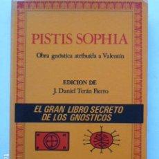 Libros de segunda mano: PITIS SOPHIA. OBRA GNÓSTICA ATRIBUIDA A VALENTÍN.. Lote 289857998