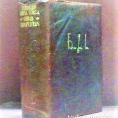 Libros de segunda mano: FEDERICO GARCIA LORCA ... OBRAS COMPLETAS ... AGUILAR 1955. Lote 289872433