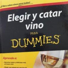 Libros de segunda mano: ELEGIR Y CATAR VINO PARA DUMMIES ED MCCARTHY Y MARY EWING MULLIGA 1 EDICION 2013. Lote 289948423